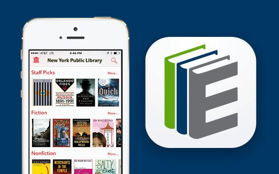 The SimplyE icon and a screenshot of the app.